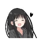 黒髪ロングの女の子3(個別スタンプ:02)