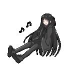黒髪ロングの女の子3(個別スタンプ:18)
