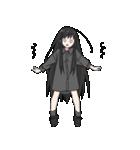 黒髪ロングの女の子3(個別スタンプ:34)