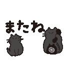 デカ文字黒猫のおめでとう, お祝,気遣stamp(個別スタンプ:16)