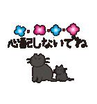 デカ文字黒猫のおめでとう, お祝,気遣stamp(個別スタンプ:28)
