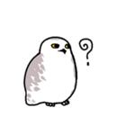 無難なトリさんのスタンプ-シロフクロウ編-(個別スタンプ:07)