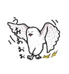 無難なトリさんのスタンプ-シロフクロウ編-(個別スタンプ:22)