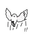 無難なトリさんのスタンプ-シロフクロウ編-(個別スタンプ:23)