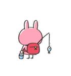 うさズキン(ピンク)(個別スタンプ:06)