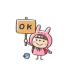 うさズキン(ピンク)(個別スタンプ:07)