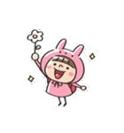 うさズキン(ピンク)(個別スタンプ:08)