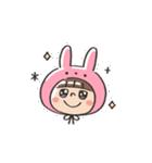 うさズキン(ピンク)(個別スタンプ:09)