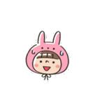うさズキン(ピンク)(個別スタンプ:10)