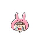 うさズキン(ピンク)(個別スタンプ:11)