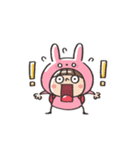 うさズキン(ピンク)(個別スタンプ:12)