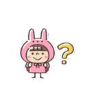 うさズキン(ピンク)(個別スタンプ:13)