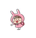 うさズキン(ピンク)(個別スタンプ:14)