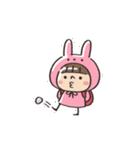 うさズキン(ピンク)(個別スタンプ:17)
