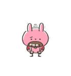 うさズキン(ピンク)(個別スタンプ:18)