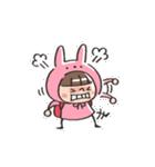 うさズキン(ピンク)(個別スタンプ:19)
