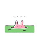 うさズキン(ピンク)(個別スタンプ:21)