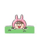 うさズキン(ピンク)(個別スタンプ:22)