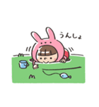 うさズキン(ピンク)(個別スタンプ:23)