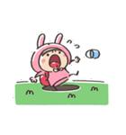 うさズキン(ピンク)(個別スタンプ:25)