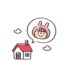 うさズキン(ピンク)(個別スタンプ:27)