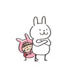 うさズキン(ピンク)(個別スタンプ:31)