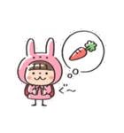 うさズキン(ピンク)(個別スタンプ:34)