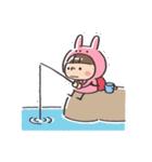 うさズキン(ピンク)(個別スタンプ:36)