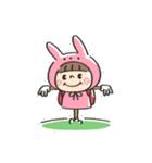 うさズキン(ピンク)(個別スタンプ:37)