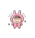 うさズキン(ピンク)(個別スタンプ:38)