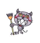 帰るネコさん 迎えるネコさん(個別スタンプ:14)