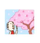 動く!くるりん子さんの春(個別スタンプ:7)