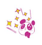 敬語を話すピンクのパンダ(個別スタンプ:02)