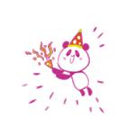 敬語を話すピンクのパンダ(個別スタンプ:04)