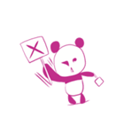 敬語を話すピンクのパンダ(個別スタンプ:20)