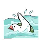 ふろしき文鳥 その三(個別スタンプ:34)