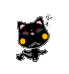 黒ネコさん、風邪(花粉症)です。辛いです(個別スタンプ:3)