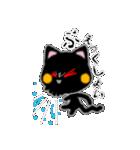 黒ネコさん、風邪(花粉症)です。辛いです(個別スタンプ:4)