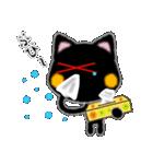 黒ネコさん、風邪(花粉症)です。辛いです(個別スタンプ:7)