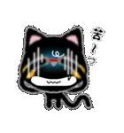 黒ネコさん、風邪(花粉症)です。辛いです(個別スタンプ:8)