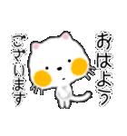 白ネコちゃんです。敬語です。(個別スタンプ:1)
