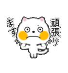 白ネコちゃんです。敬語です。(個別スタンプ:7)