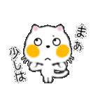 白ネコちゃんです。敬語です。(個別スタンプ:8)
