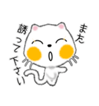 白ネコちゃんです。敬語です。(個別スタンプ:38)