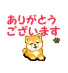 ちび秋田犬 でか文字敬語(個別スタンプ:17)