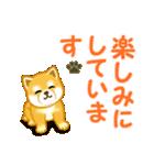 ちび秋田犬 でか文字敬語(個別スタンプ:20)