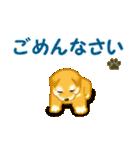ちび秋田犬 でか文字敬語(個別スタンプ:22)