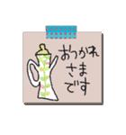 手書きメモ風マステなカラフル敬語スタンプ(個別スタンプ:04)