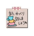 手書きメモ風マステなカラフル敬語スタンプ(個別スタンプ:18)