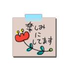 手書きメモ風マステなカラフル敬語スタンプ(個別スタンプ:23)